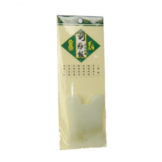 Gua Sha kaabits nefriidist, ovaalse servaga